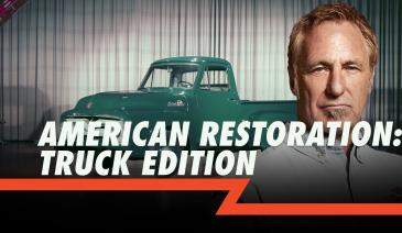 Two top truck builders compete for a sale as they restore two classic trucks